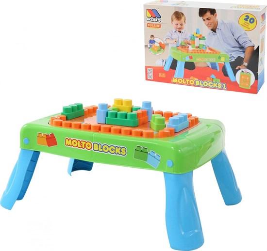 ПОЛЕСЬЕ Набор игровой с конструктором (20 элементов) в коробке (зелёный) 57983