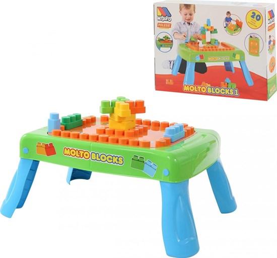 ПОЛЕСЬЕ Набор игровой с конструктором (20 элементов) в коробке (зелёный) с элементом вращения 57990