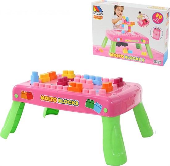 ПОЛЕСЬЕ Набор игровой с конструктором (20 элементов) в коробке (розовый) 58003 - фото 11183