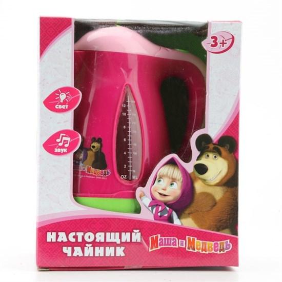 """ИГРАЕМ ВМЕСТЕ Игрушечный чайник """"Маша и медведь"""" (свет, звук) 08013 - фото 12273"""
