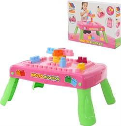 ПОЛЕСЬЕ Игровой набор с конструктором,, 20 деталей розовый (в коробке) 58010 - фото 19630