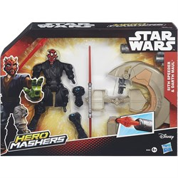 STAR WARS Игровой набор Star Wars Hero Mashers - Спидер ситха и Дарт Мол B3832