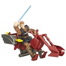 """STAR WARS Игровой набор """"Звездные войны"""" Hero Mashers - Спидер джедая и Энакин Скайуокер B3833 - фото 20270"""