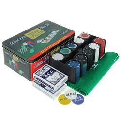 Набор для покера в мет. коробке 278719