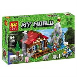 "LELE Конструктор ""Хижина в горах 3 в 1"" Minecraft 33018"