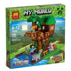 "LELE Конструктор ""Домик у реки"" Minecraft 79350"