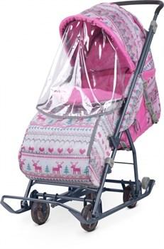 УМКА Санки-коляска с выдвижными колесами НД3-1