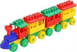 ПОЛЕСЬЕ Паровоз с тремя вагонами 2051