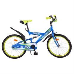 "MUSTANG Велосипед ""PRIME"" 20"" цвет сине/салатовый 239487"