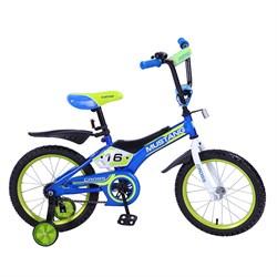 """Велосипед """"MUSTANG"""" CROSS 16"""" син/салат ST16020-TR"""