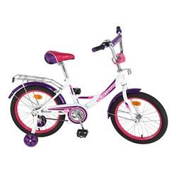 """MUSTANG Велосипед 18"""" цвет бело/фиолетовый 239508"""