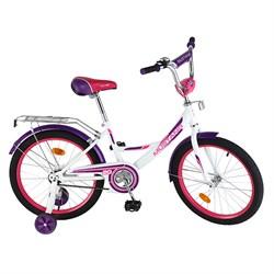 """MUSTANG Велосипед 20"""" цвет бело/фиолетовый 239514"""