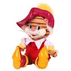 """Мягкая игрушка """"Кот в сапогах"""" (звук), 28 см V85121/28"""
