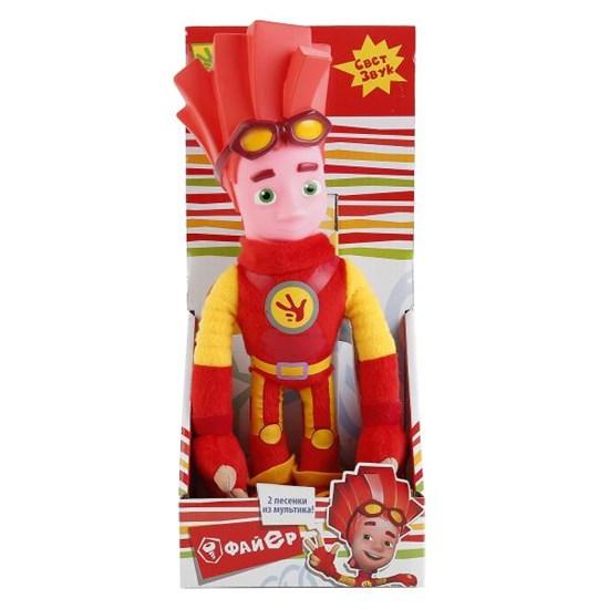 """Мягкая игрушка """"Фиксики"""" - Файер (свет-звук) в коробке, 27 см FIX001-005"""