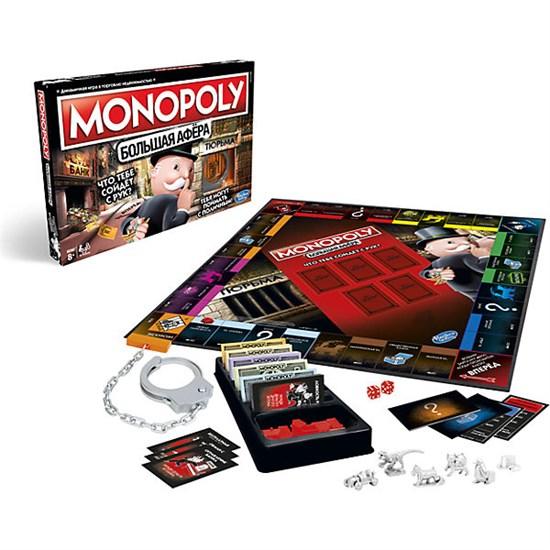 """Настольная игра Hasbro Gaming """"Монополия"""" Большая афёра Е1871"""