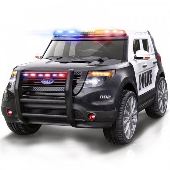 Электромобиль BARTY Ford ПОЛИЦИЯ Т111МР Бело-Черный - фото 34686