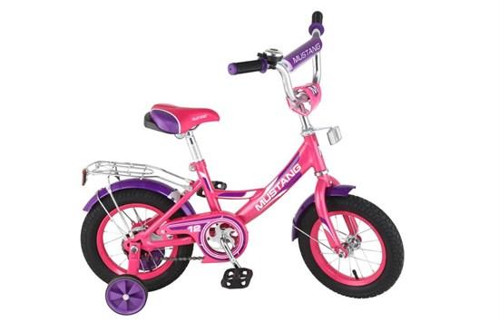 "Велосипед ""MUSTANG"" 12"" роз/фиолет ST12002-A"