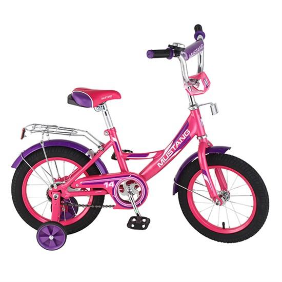 "Велосипед ""MUSTANG"" 14"" роз/фиолет ST14002-A"