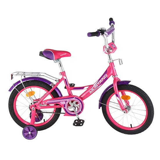 "Велосипед ""MUSTANG"" 16"" роз/фиолет ST16002-A"