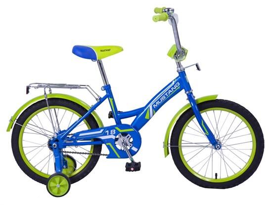 "Велосипед ""MUSTANG""18"" син/салат ST18004-GW"