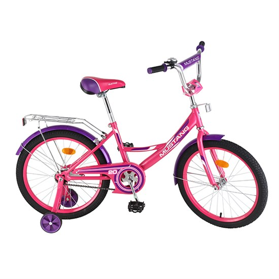 "Велосипед ""MUSTANG"" 20"" роз/фиолет ST20008-A"