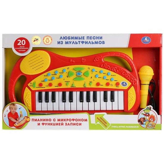 УМКА Обучающее пианино со звуком, 20 любимых песен с микрофоном 1454100