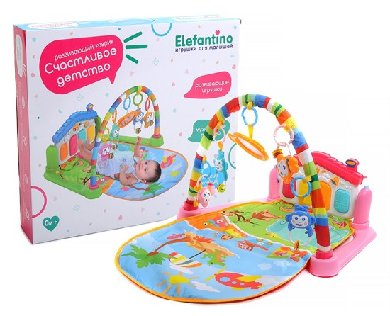 ELEFANTINO Развивающий коврик Цвет розовый 102787 - фото 36374