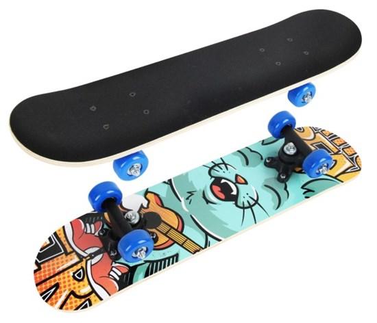 """Скейтборд """"Funny cat"""" 60*15 см. ПВХ колеса"""