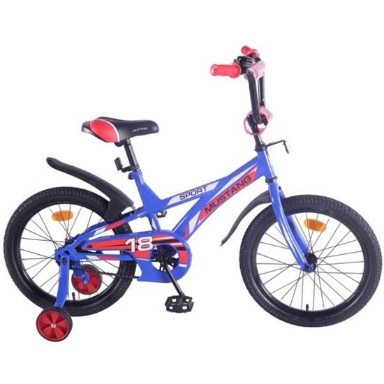 "Велосипед ""MUSTANG"" 18"" син/крас ST18051-J"