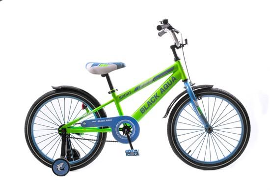 """BLACK AQUA Велосипед """"SPORT"""" 20"""" KG2023 Салатовый"""