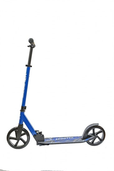 """Самокат складной """"WOLF"""" колеса 200 мм. цвет синий"""