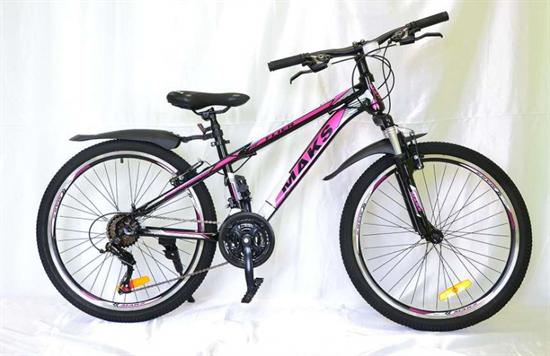 """Велосипед 24"""" MAKS """"FLIER"""" MD 21 скорость Рама 13 цвет черно/розовый"""