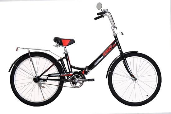 """BLACK AQUA Велосипед складной """"Street Beat 141"""" 24"""" цвет черно/красный"""