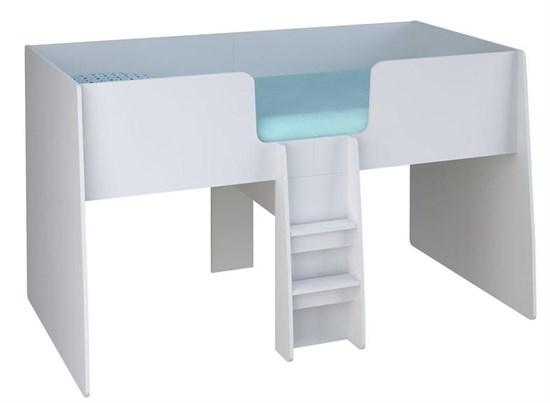 Кровать-чердак детская Polini kids Simple 4100 с выдвижными элементами
