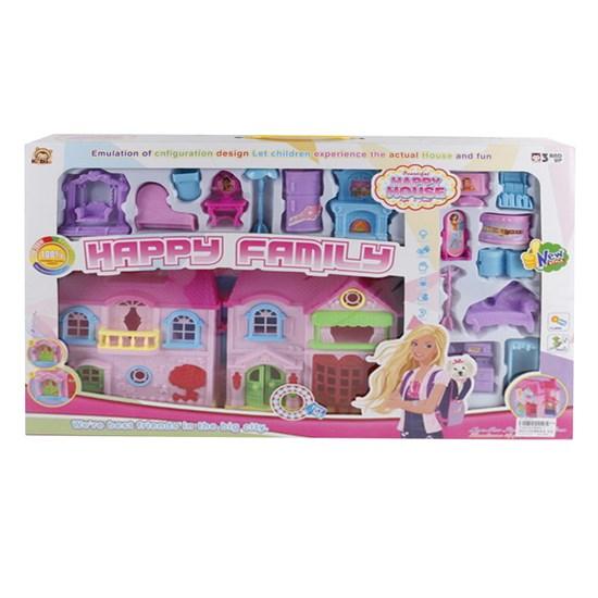 Кукольный дом с аксессуар., свет, звук. эффект, в/к 54,5*6,5*35,5 см JB202202