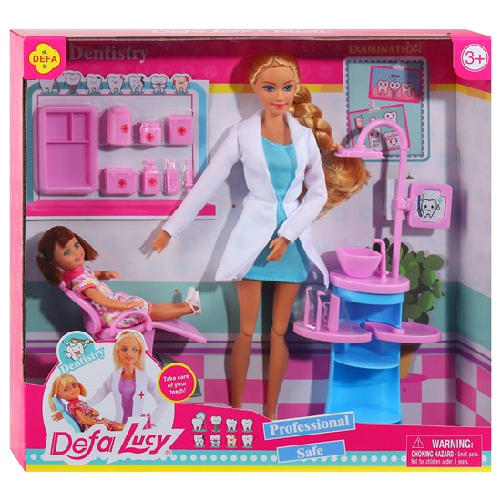 """Кукла """"Дефа"""", """"Стоматолог"""", Кукла, кукла-малышка, аксессуары, в/к 34*6*31 см JB0701243"""