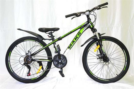 """Велосипед 24"""" MAKS """"FLIER"""" MD 21 скорость Рама 13 цвет черно/зеленый"""