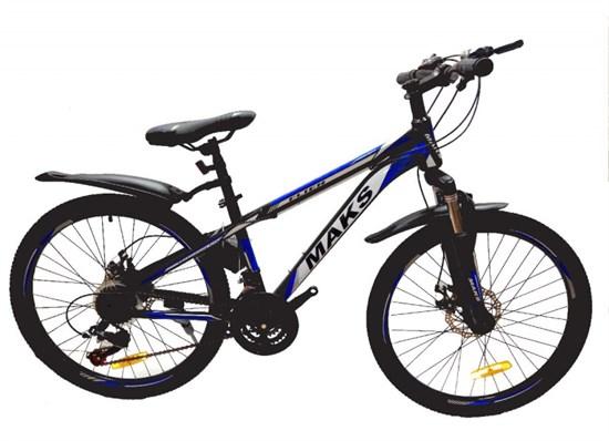 """Велосипед 24"""" MAKS """"FLIER"""" MD 21 скорость Рама 13 цвет черно/синий"""