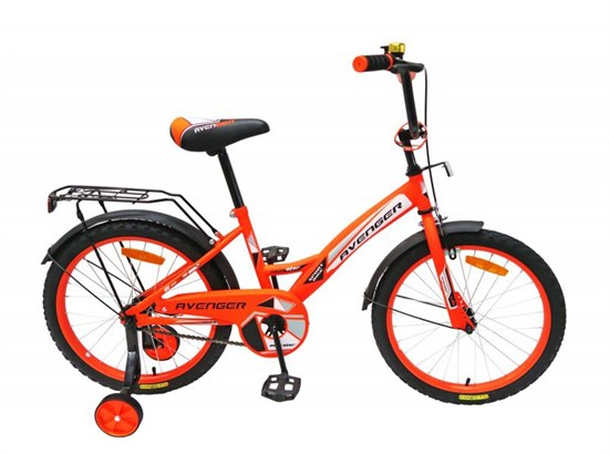 "Велосипед 14"" AVENGER ""NEW STAR"" цвет оранжевый/неоновый/черный C14N-OR/BK"