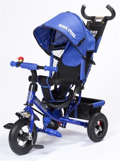 """Велосипед 3-х кол. """"KIDS TRIKE"""" Надув. колеса 12"""" и 10"""" Цвет Синий"""