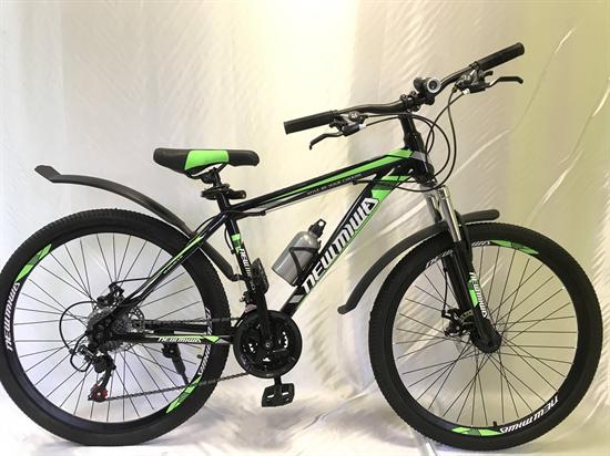 """Велосипед 26"""" NEWMIWA MD 21 скорость Рама 17 цвет черно/зеленый"""