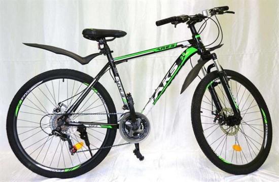 """Велосипед 26"""" MAKS """"ARES"""" MD 21 скорость Рама 19 цвет черно-зеленый"""