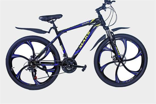 """Велосипед 26"""" MAKS """"HARD"""" MD литые диски 21-ск. рама 19 Цвет Черный/синий"""
