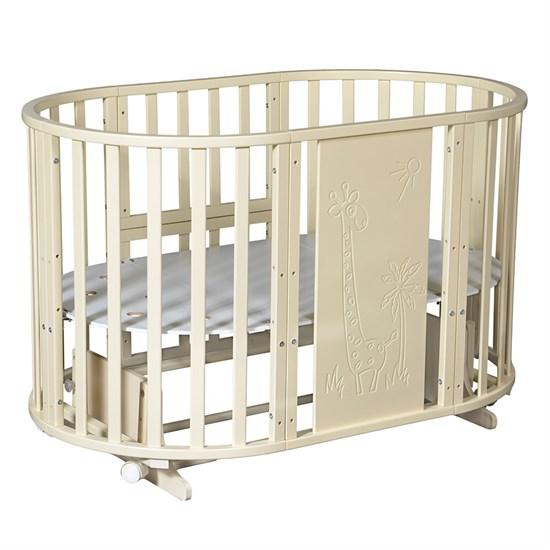 Кровать детская СЕВЕРЯНКА-3 ЖИРАФ 6в1 круг-овал - фото 42244
