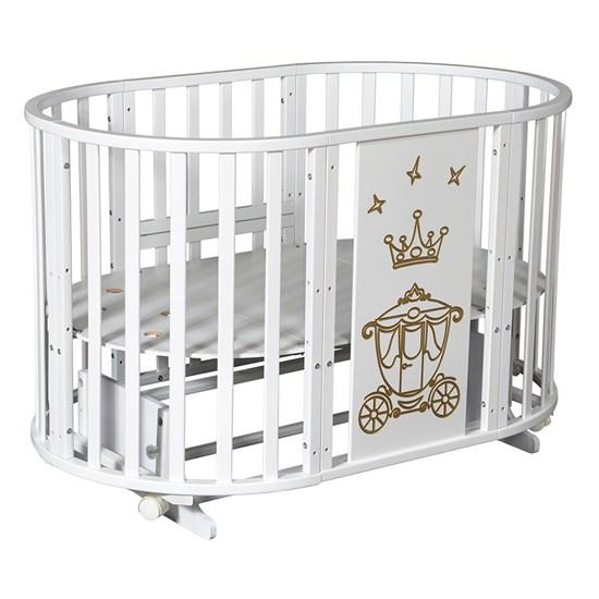 Кровать детская СЕВЕРЯНКА-3 КОРОНА 6в1 круг-овал
