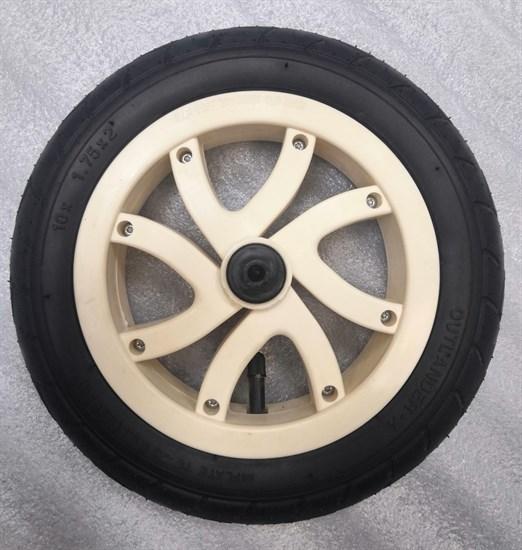 """Колесо 10"""" переднее поворотное 10х1.75 диск бежевый"""