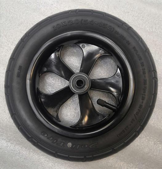 """Колесо 10"""" переднее поворотное 10х2.0 (54-152) """"Riko Alfa"""" диск черный"""