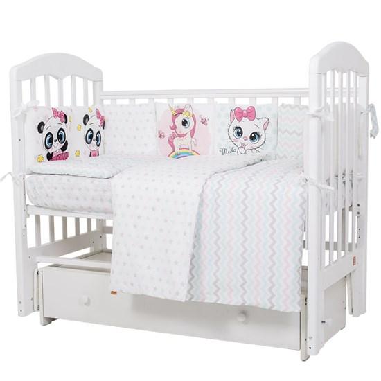 """Комплект постельного белья """"Топотушки"""" Мальчики и девочки (6 предметов) 607"""