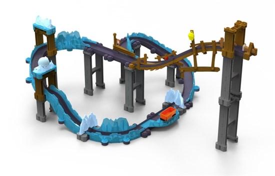 CHUGGINGTON Die-Cast, Игровой набор 'Ледяная Пещера' с Коко LC54224