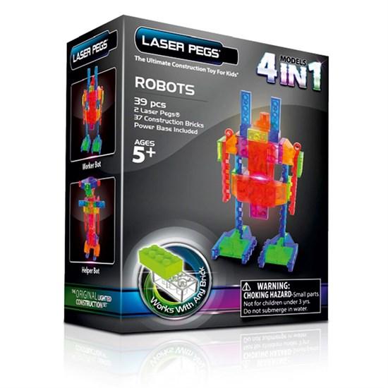 LASER PEGS Конструктор «Роботы» Набор (4 в 1) mps200b - фото 6803